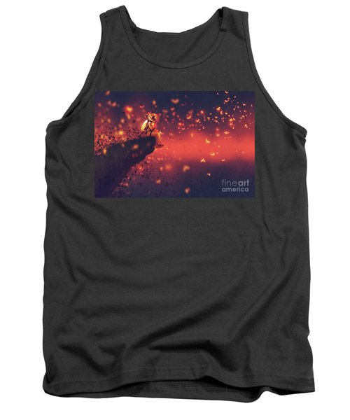 Tank Top featuring the painting Red Planet by Tithi Luadthong