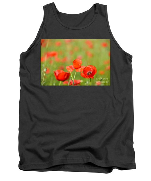 Red Poppy In A Field Of Poppies Tank Top by IPics Photography