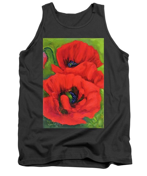 Red Poppy Seed Packet Tank Top