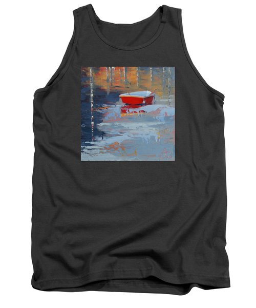 Red Reflections Tank Top by Trina Teele