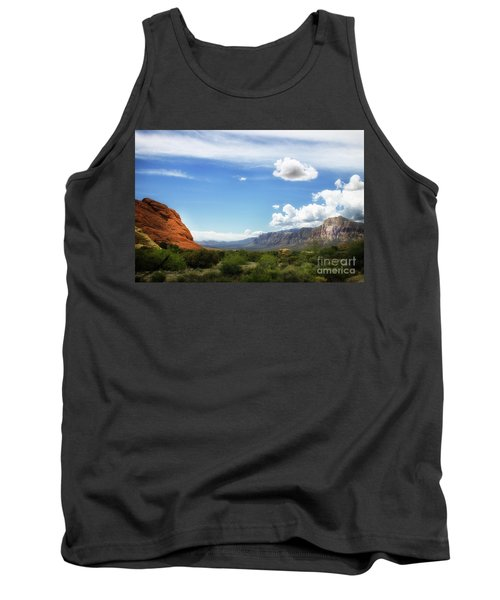 Red Rock Canyon Vintage Style Sweeping Vista Tank Top
