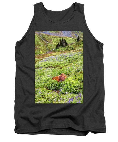 Tank Top featuring the photograph Red Rock Of Rainier by Pierre Leclerc Photography