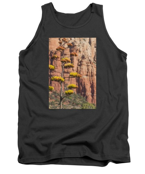 Red Rocks And Century Plant Tank Top by Laura Pratt