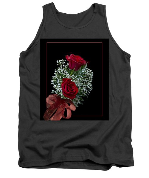 Red Roses For A Blue Lady Tank Top by Judy Johnson