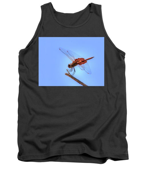 Red Saddlebag Dragonfly Tank Top