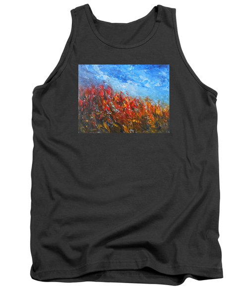 Red Sensation Tank Top by Jane See