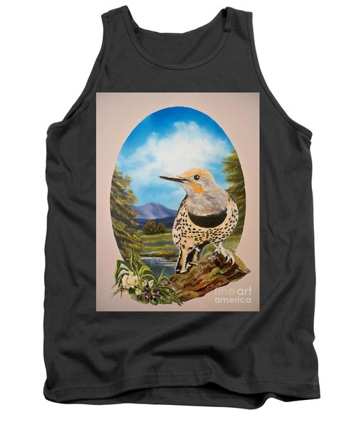 Red Shafted Flicker Tank Top by Sigrid Tune