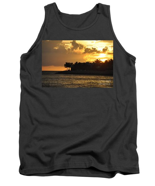Tank Top featuring the photograph Red Sky At Night Over Sunset Key by John Black