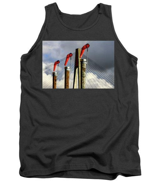 Red Subject Tank Top by Menachem Ganon