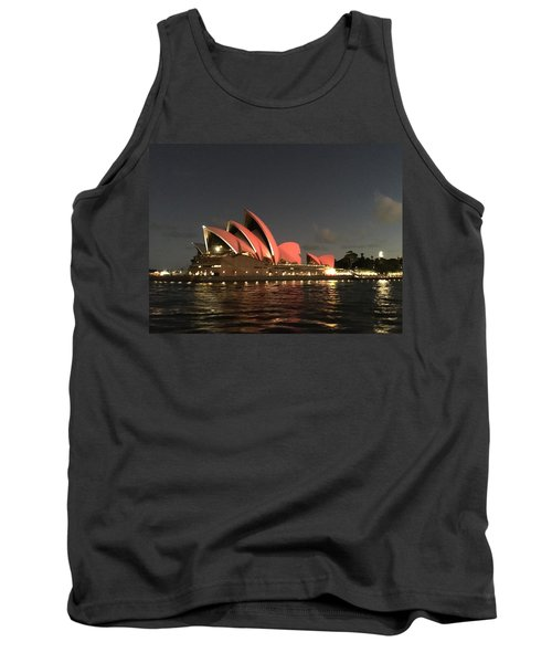 Red Sydney Opera House Tank Top by Sandy Taylor