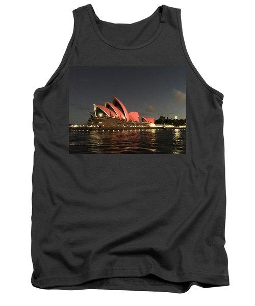 Red Sydney Opera House Tank Top