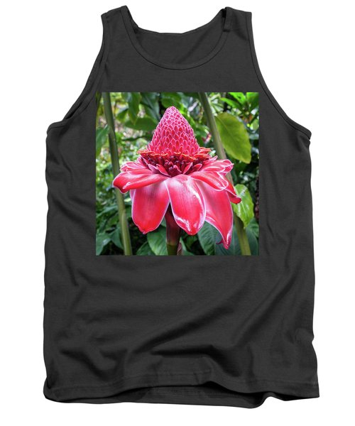 Red Torch Ginger Flower Tank Top
