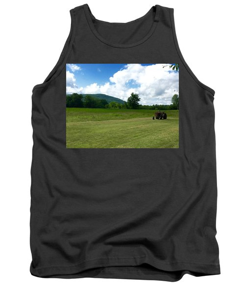Red Tractor Tank Top