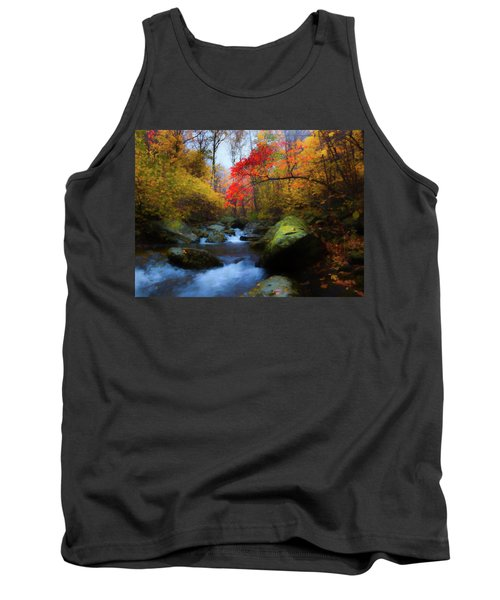 Red Tree In White Oak Canyon Tank Top