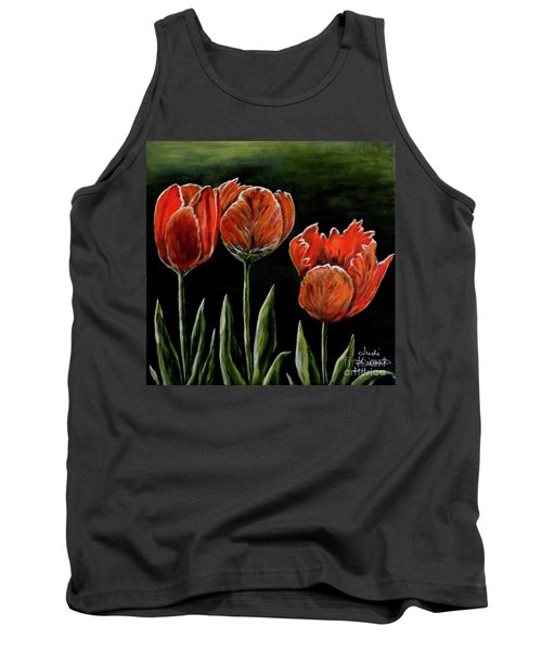 Tank Top featuring the photograph Red Tulips by Judy Kirouac