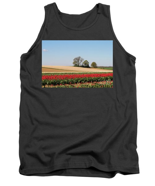 Red Tulips Landscape Tank Top