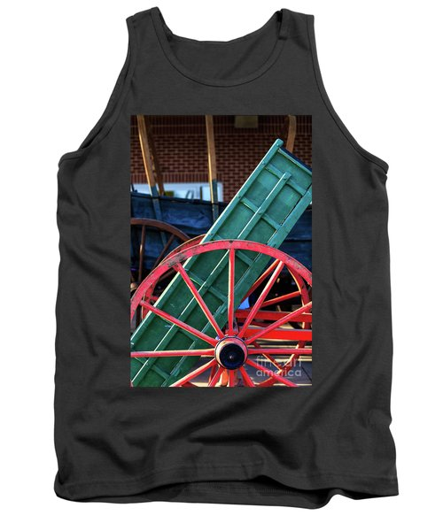 Red Wagon Wheel Tank Top