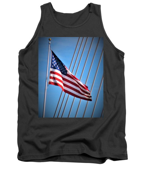 Red, White And Blue Tank Top by Martin Cline