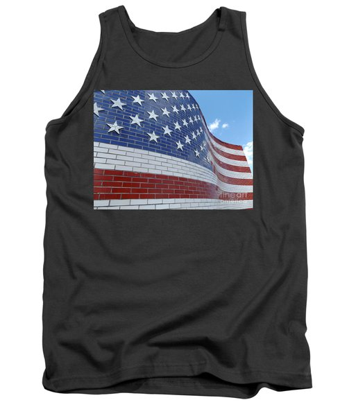 Red White And Brick Tank Top by Erick Schmidt