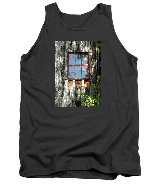 Tank Top featuring the photograph The Red Window by Sandi OReilly