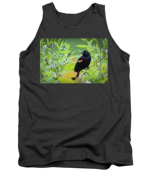 Red Wing In The Marsh Tank Top