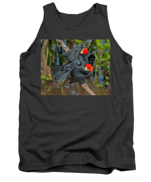 Red-winged Blackbird Tank Top by Suzanne Stout