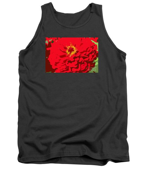Tank Top featuring the photograph Red Zinnia by Jeanette French