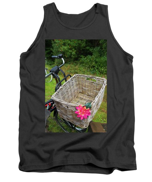 Tank Top featuring the photograph Reed Bicycle Basket by Hans Engbers