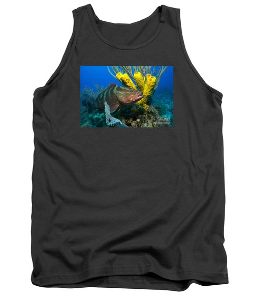 Tank Top featuring the photograph Reef Denizon by Aaron Whittemore