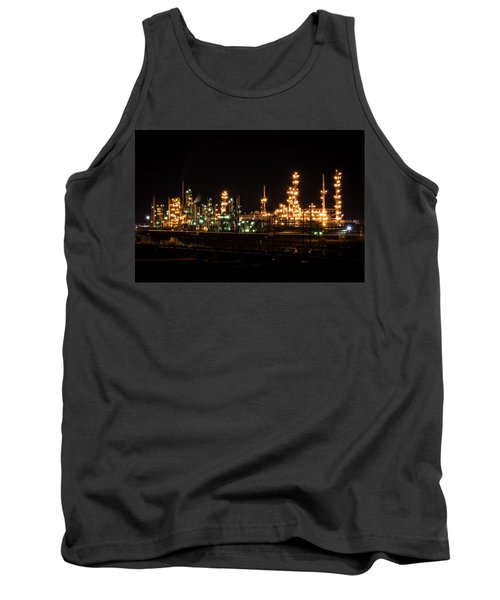 Refinery At Night 3 Tank Top