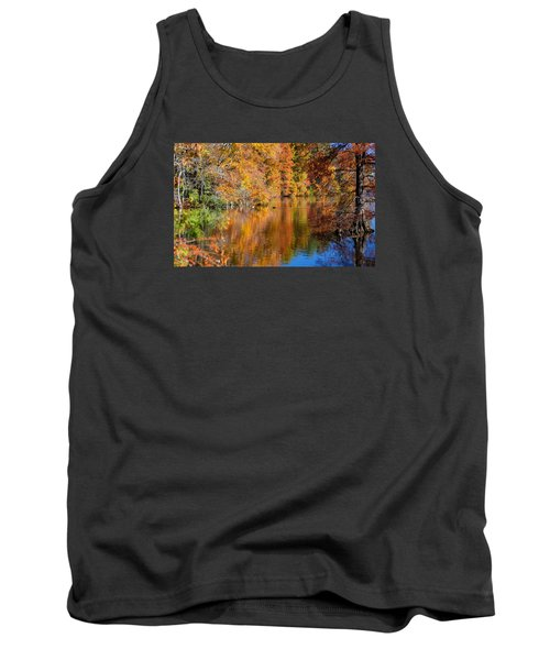 Reflected Fall Foliage Tank Top by Allan Levin