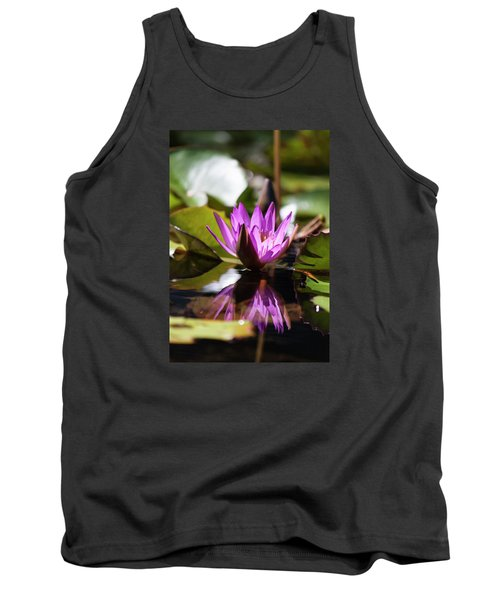 Tank Top featuring the photograph Reflection In Fuchsia by Suzanne Gaff