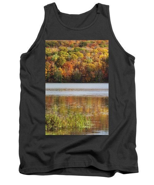 Reflection Of Autumn Colors In A Lake Tank Top