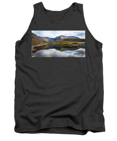 Tank Top featuring the photograph Reflection Of The Macgillycuddy's Reeks In Lough Eagher by Semmick Photo
