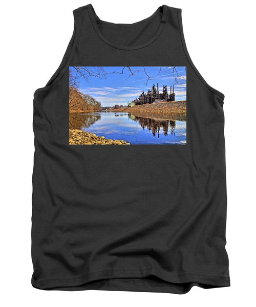 Reflection On The Lehigh - Bethlehem Pa Tank Top
