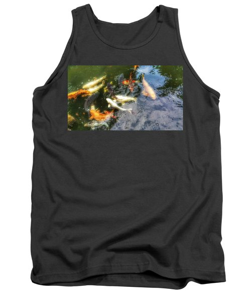 Reflections And Fish 6 Tank Top