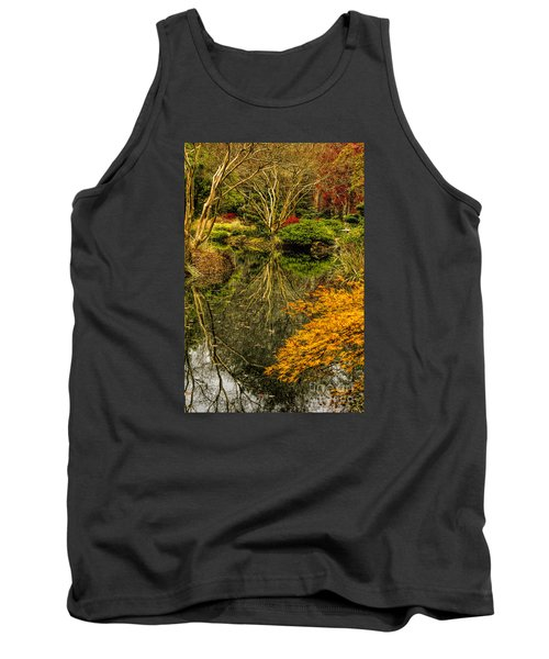 Tank Top featuring the photograph Reflections At Japanese Gardens by Barbara Bowen