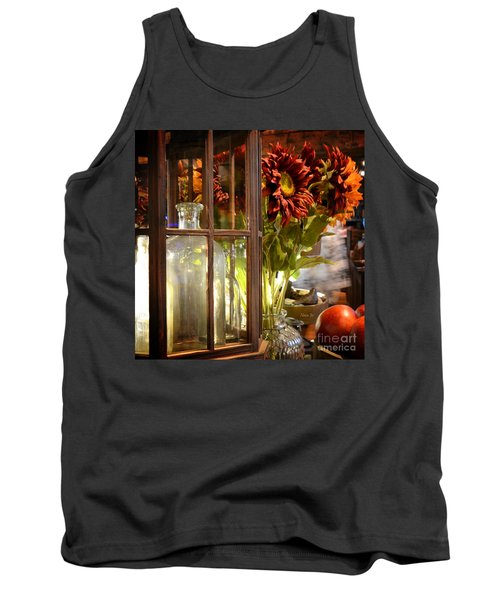 Reflections In A Glass Bottle Tank Top