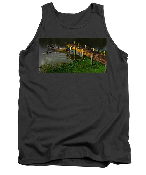 Reflections In A Restless Pond Tank Top