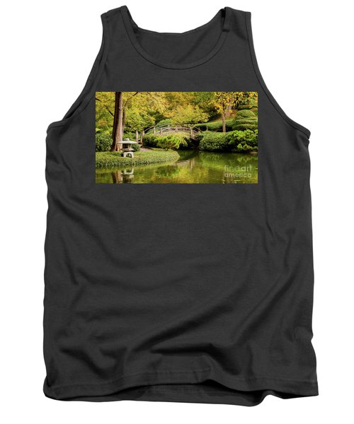 Tank Top featuring the photograph Reflections In The Japanese Garden by Iris Greenwell