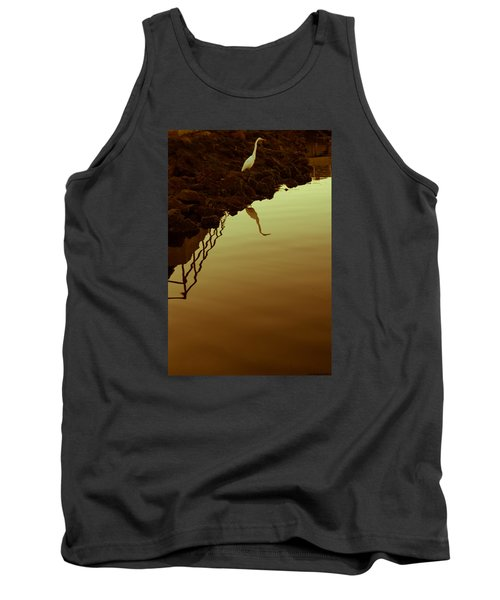 Tank Top featuring the photograph Elegant Bird by Lora Lee Chapman