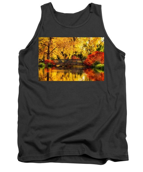 Reflections Of Fall Tank Top by Kristal Kraft