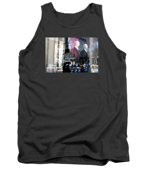Reflections Of New York Tank Top by Allen Carroll