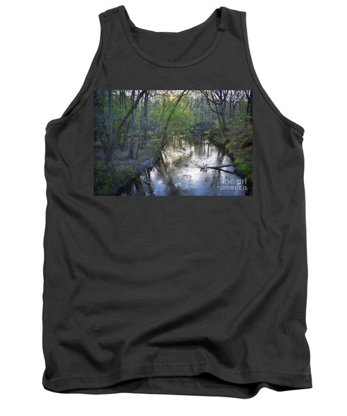 Tank Top featuring the photograph Reflections On The Congaree Creek by Skip Willits