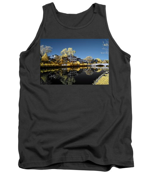 Reflections On Wesley Lake Tank Top by Paul Seymour