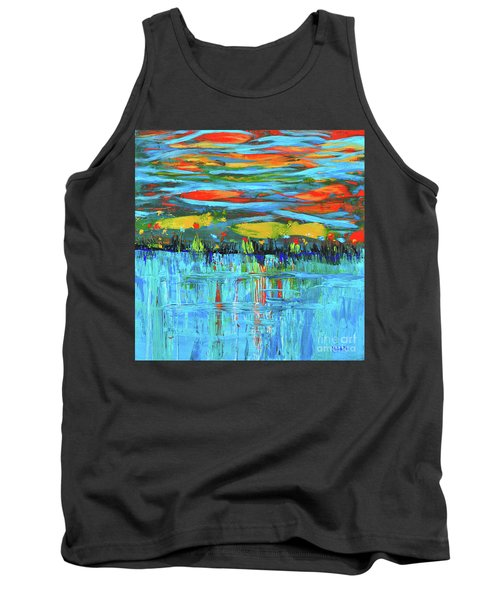Reflections Sky And Landscape Abstract Tank Top