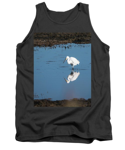Reflections White Egret Tank Top