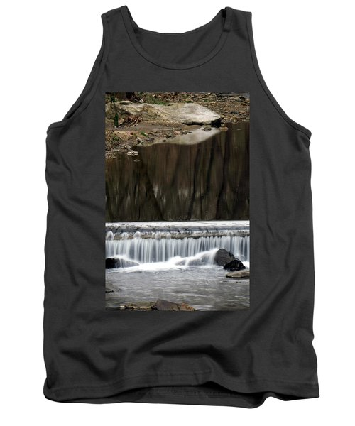 Tank Top featuring the photograph Reflexions And Water Fall by Dorin Adrian Berbier