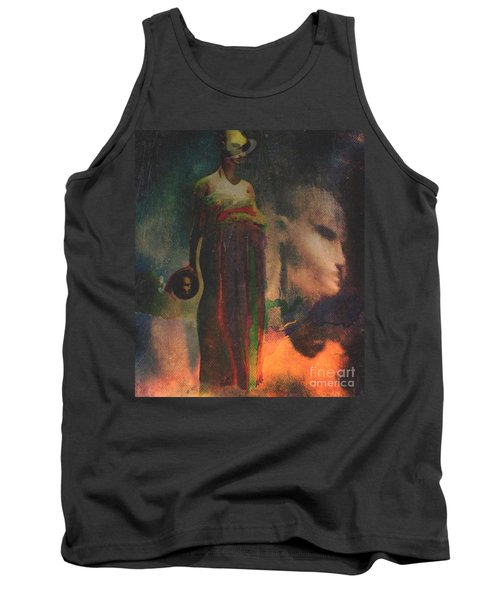 Tank Top featuring the digital art Reincarnation by Alexis Rotella