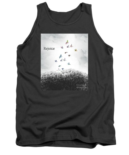 Tank Top featuring the digital art Rejoice by Trilby Cole